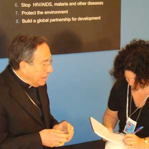 Cardinal Rodriguez interviewed at the UN high level poverty meeting