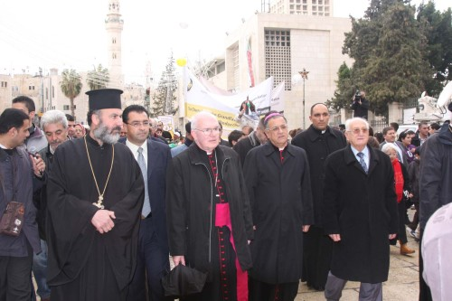 World religious leaders rally in Bethlehem for peace in Gaza