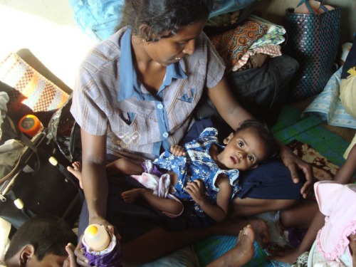 """Caritas will stay with the people trapped under bombardment in Vanni until the last one is safe,"" - A Caritas Sri Lanka Staff member. Caritas is working with the war victims in Sri Lanka"