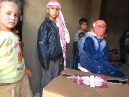 Syrian refugee family
