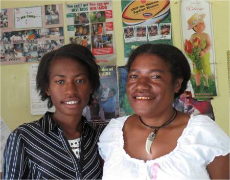 Women are particularly vulnerable to HIV in Papua new Guinea. But Jean and Janet raise awareness on the issues. Credit: Patrick Nicholson/Caritas