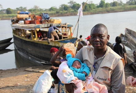 Baby Bonane was the youngest evacuee. Credit: Cordaid