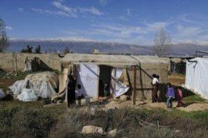 Au camp de Majd el Anjar, dans la vallée de la Beeka, s'est installée une centaine de personnes originaires de Homs. Copyright: Secours Catholique/Patrick Delapierre