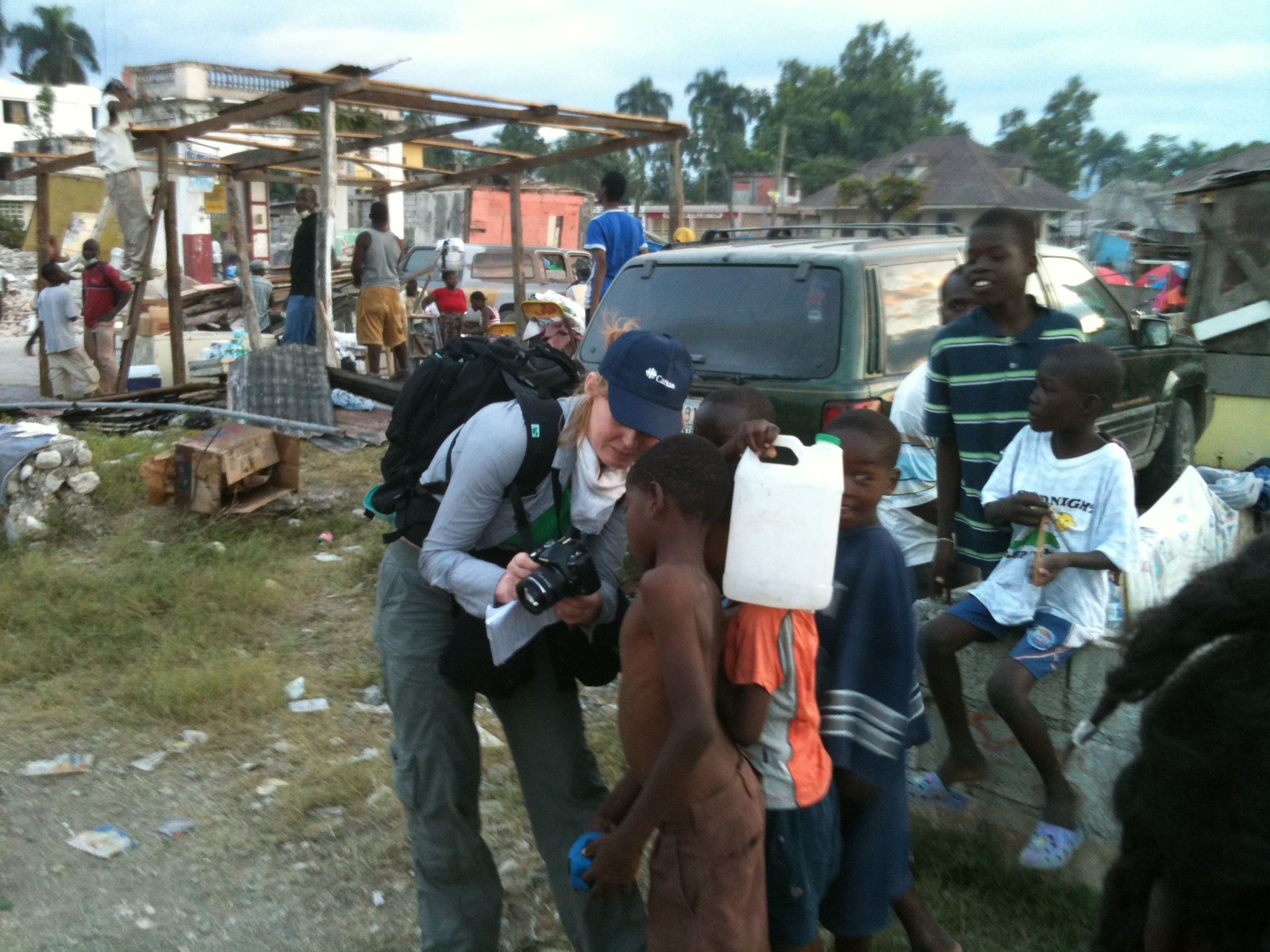 Michelle Hough in Haiti just after the earthquake.