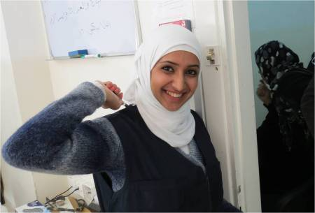 Rahaf Al Jaber is a Syrian refugee. She volunteers for Caritas Jordan in Zarqa. Photo by Patrick Nicholson/Caritas