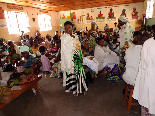 Pediatric center at Mapendo health center. The center has an attendance rate of 112%.