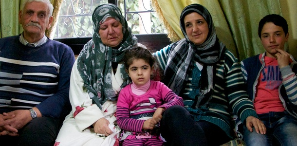 This Syrian family was taken in by relatives in the Lebanese town of Baalbek. Photo: Jos de Voogd/Cordaid