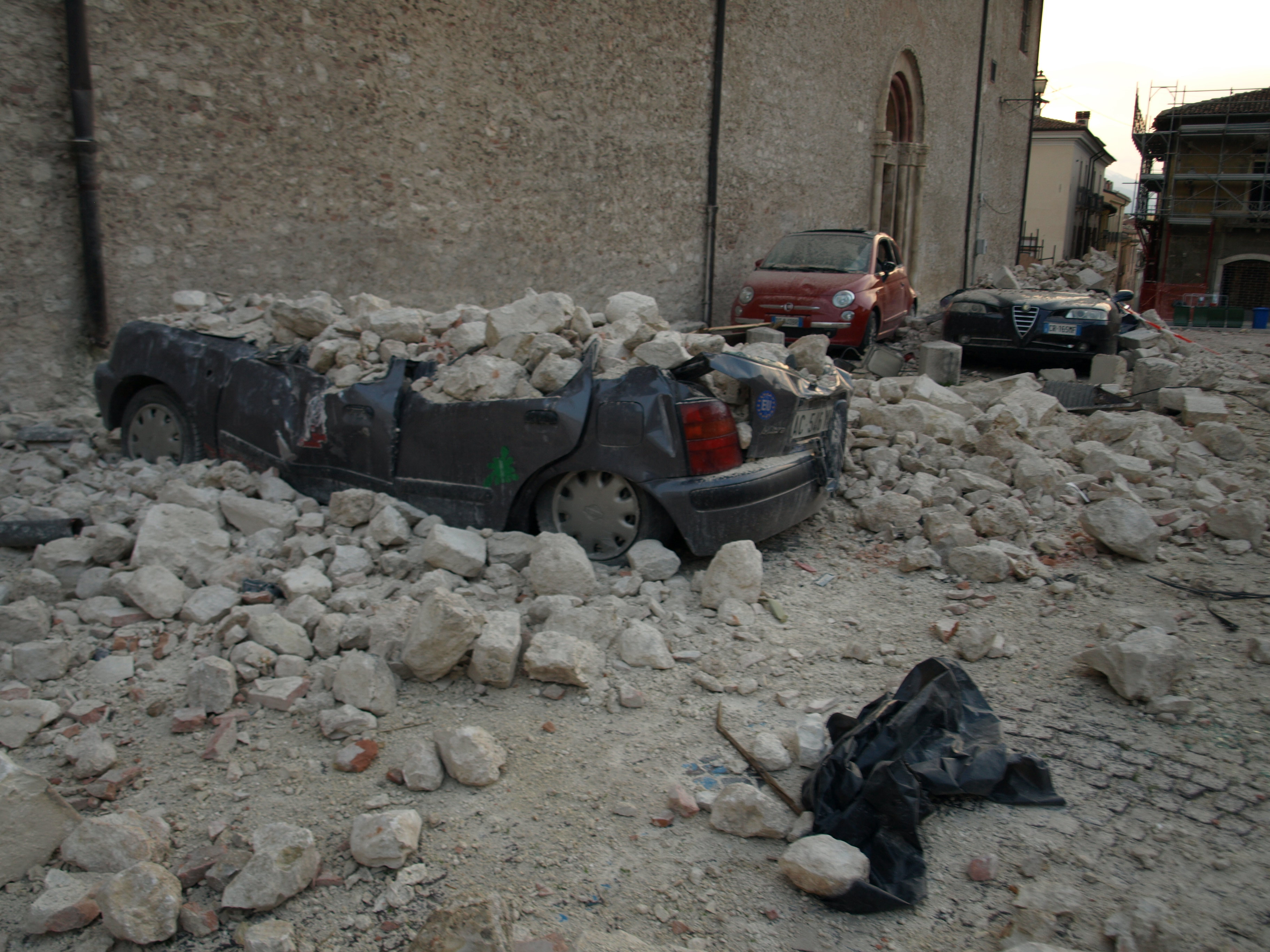 The historic town of L'Aquila in central Italy was devastated by the 2009 earthquake. Credit: Caritas/Michelle Hough
