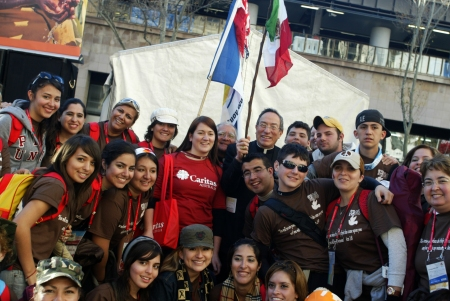 Caritas president, Cardinal Oscar Rodriguez Maradiaga at a previous World Youth Day in Australia. Credit: James Alcock