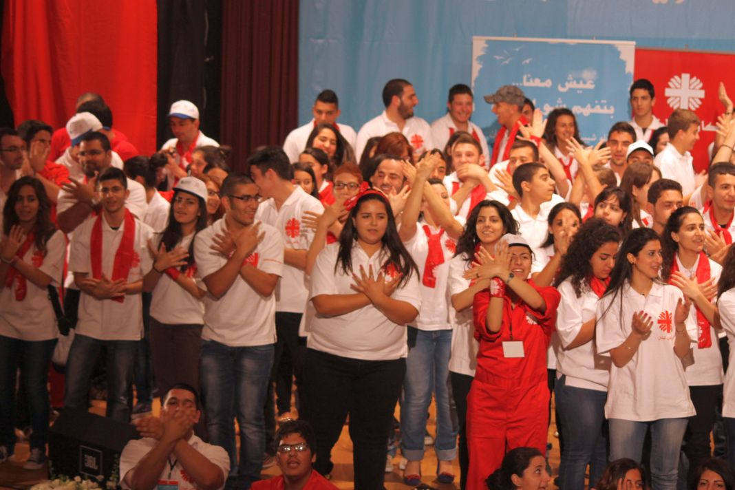 400 Caritas Lebanon young volunteers came together Sunday to celebrate their work. Credit: Caritas Lebanon