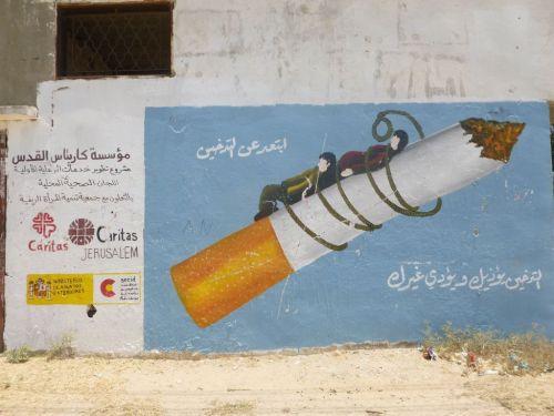 As well as providing aid, Caritas Jeruslaem also runs public health campaigns in Gaza