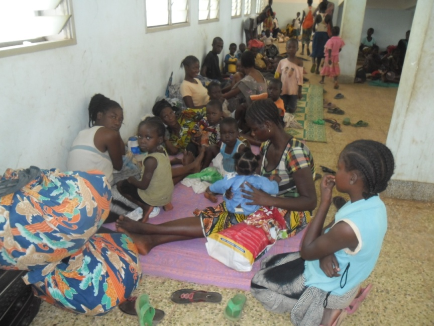 To scared to stay at home, people are hiding in the local hospital. Credit: Caritas