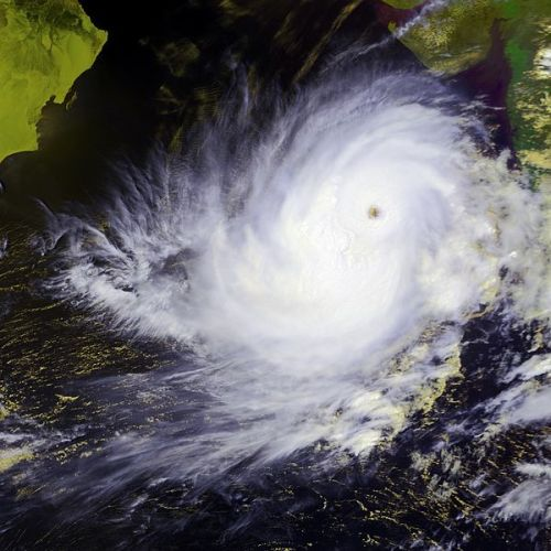 Cyclone Phailin swirls over the Bay of Bengal, covering an area larger than France. Creative Commons