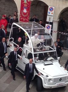 Pope Francis in Assisi on St Francis' feast day.